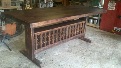 Counter Height Dining Table With Built In Wine Racks